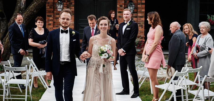 Ślub plenerowy Folwark Białych Bocianów